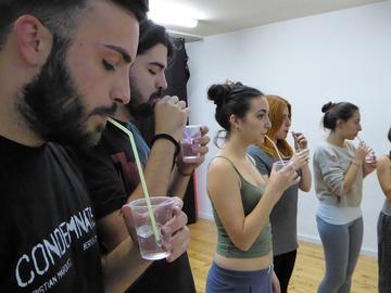 Nancy Tuñón, escola d'actors: Classe de veu d'alumnes del Pla de formació