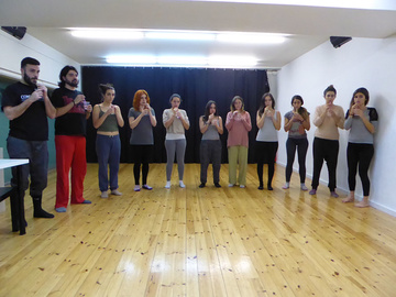 Nancy Tuñón, escola d'actors: classe de veu