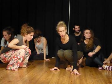 Nancy Tuñón, escuela de actores: Ejercicio de técnica vocal