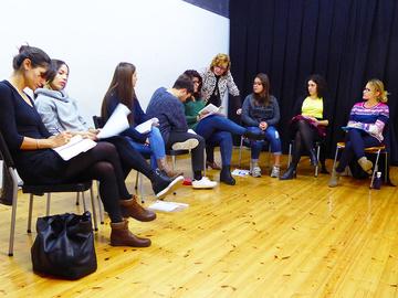 Nancy Tuñón, escuela de actores: Ejercicio de dicción