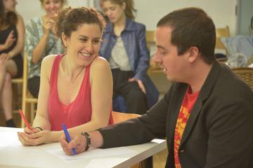 Nancy Tuñón, escola d'actors: assaig d'alumnes del Pla de formació
