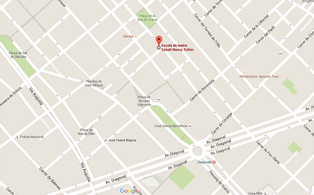 Mapa ubicació Estudi Nancy Tuñón