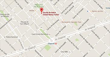 Mapa de ubicación del estudio Nancy Tuñón